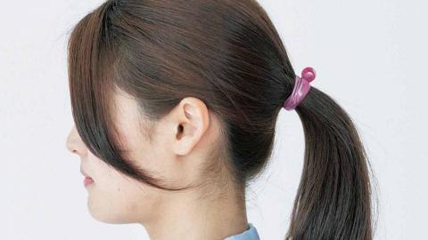 日本設計矽膠扎頭髮神器!3步綁好 打風/運動/點跳點搖頭都唔甩