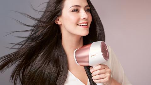 即時感應髮絲溫度調校風溫 Philips SenseIQ 智能感控溫護髮電風筒
