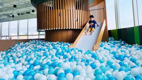 【親子好去處】黃埔新開無敵海景室內遊樂場+餐廳!繩網陣/玩水區/波波池/賽車