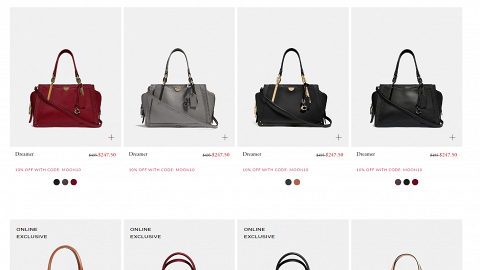 【Black Friday 2019】7大Black Friday手袋優惠 Tory Burch/Coach/Furla