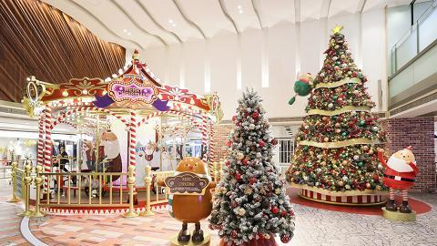 香港都有飄雪聖誕!免費玩室內單車旋轉木馬!