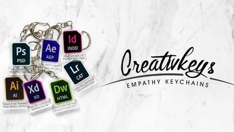超得意Adobe/Microsoft系列透明鎖匙扣!檔案名講出設計師崩潰心聲