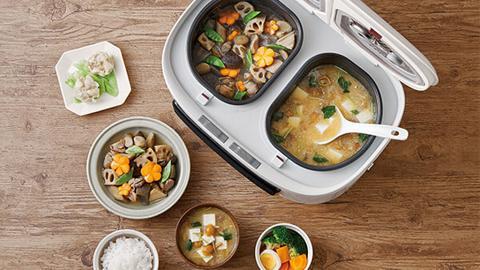日本新推二合一鴛鴦電飯煲超方便 懶人輕鬆變廚神煮出三餸一飯