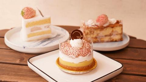 【中環美食】Cafe新推期間限定淡雪士多啤梨甜品 淡雪草莓蛋糕/草莓撻/千層酥