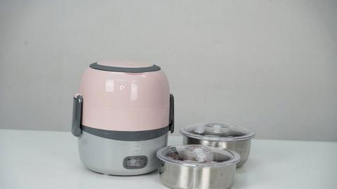 WOLL便攜式小型雙層蒸煮盒開箱 操作簡單20分鐘輕鬆煮出健康新鮮飯餸