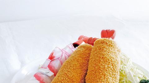 炸蝦天婦羅縮骨遮全新登場!紅色蝦尾遮柄+ 炸粉防水遮套超搞笑