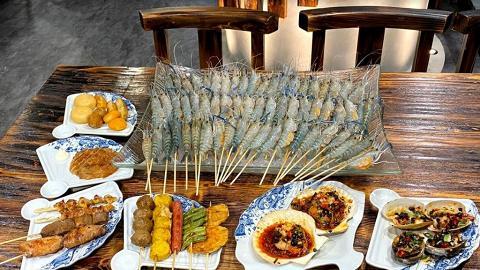 【銅鑼灣美食】銅鑼灣串燒放題店抵食優惠 $168任食磯燒流水蝦+海鮮/烤肉串燒