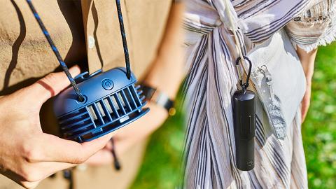 BRUNO推出2款全新便攜式風扇 掛頸免提/超迷你電筒兩用/多色選擇
