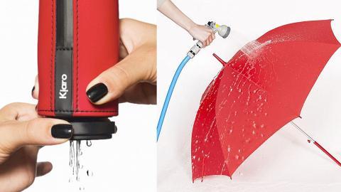 5大多功能超輕撥水雨傘限時優惠!全球最輕身/自動晾乾/一秒撥走水珠/噴水降溫