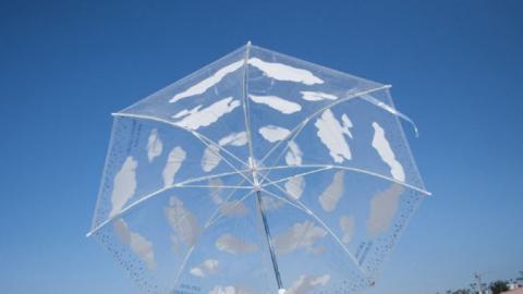 【網購優惠】5款日本透明雨傘推介 晴雨兼用 透出藍天白雲/可愛貓貓/綠葉/海浪