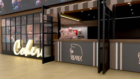 【尖沙咀美食】尖沙咀新開午餐肉罐頭Lulu豬Cafe Lulu豬甜品+1.7米巨型Lulu豬