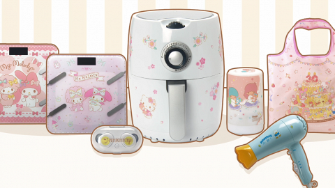千色百貨Sanrio獨家換購精品 Hello Kitty氣炸鍋/布甸狗耳機/AP鴨風筒/香薰機