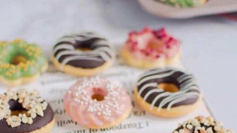 彩虹戚風蛋糕+迷你冬甩烘焙包!$198有齊全套材料直送上門 在家自製甜品下午茶