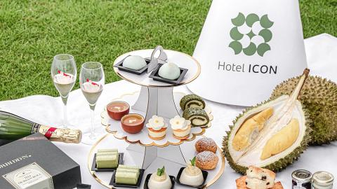 Hotel ICON唯港薈首推招牌榴槤下午茶外賣 歎貓山王榴槤布甸/芝士撻/千層蛋糕
