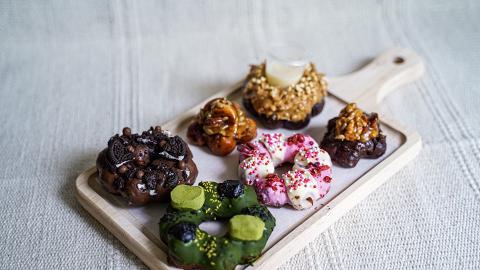 網店手工製煙韌波堤Donut!港式花生奶醬多/抹茶麻糬/草莓牛奶/海鹽Oreo口味