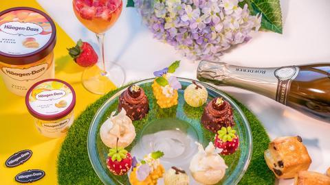 【尖沙咀美食】唯港薈Häagen-Dazs聯乘香檳品牌下午茶 11款鹹甜點+任食雪糕杯