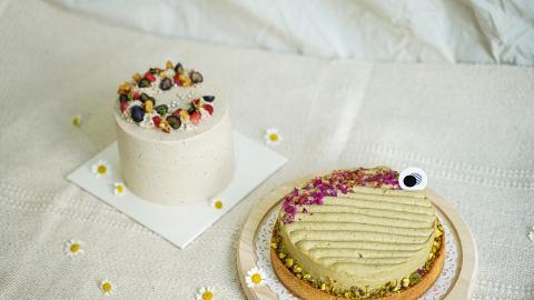 純素藝術蛋糕網店推介 開心果紅莓撻/黑芝麻焙茶蛋糕/伯爵茶蛋糕/黑朱古力蛋糕