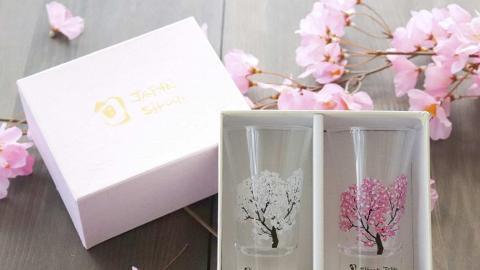 日本櫻花+煙火冷感變色杯 網購直送香港!倒水漸變出綻放煙火+夢幻滿開櫻花
