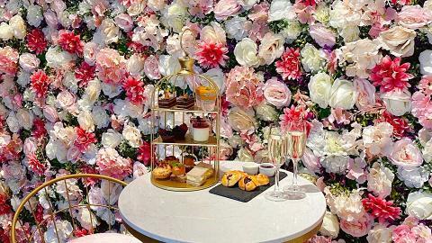 中環蘭桂坊酒店九如坊下午茶優惠!夢幻粉色花牆三層架下午茶人均$214起