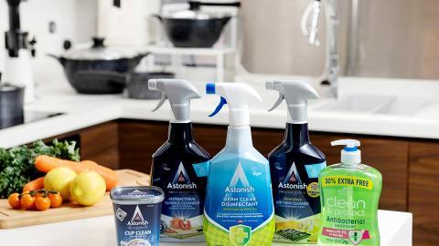 英國清潔品牌Astonish推消毒系列!多用途殺菌清潔劑/廚房專用清潔劑/強效浴室抗菌去污液