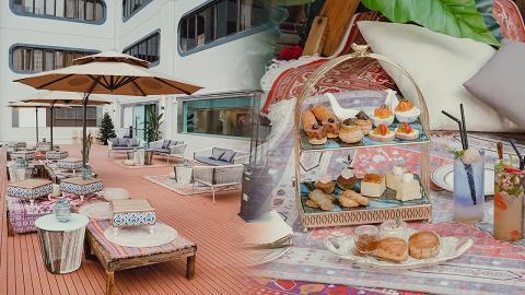 【旺角美食】旺角Morokok期間限定摩洛哥風兩層下午茶 歎巴斯克芝士蛋糕/伯爵茶鬆餅