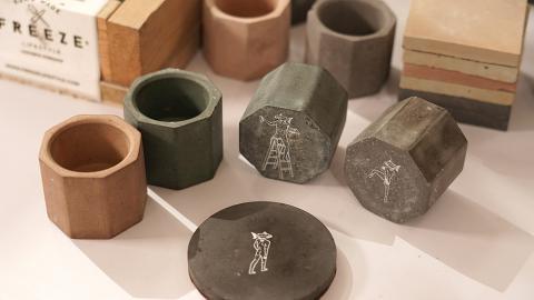 【深水埗好去處】深水埗DIY水泥工作坊 絲印燭台/杯墊工業風水泥裝飾
