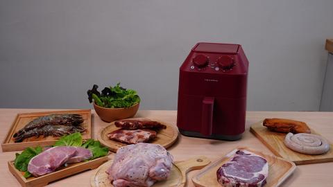 【網購優惠】Recolte氣炸鍋美食套餐7折優惠!4人份量燒雞/虎蝦/肉眼扒/豬肋排連氣炸鍋
