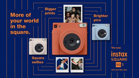 FUJIFILM instax SQUARE SQ1方形即影即有菲林相機 夢幻藍/橙配色!自拍模式/自動曝光新功能