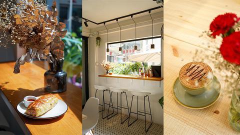 【坪洲美食】坪洲新開純白小清新Cafe!自家製香烤金黃雜菜豬肉酥/芝士蛋糕/BB版咖啡