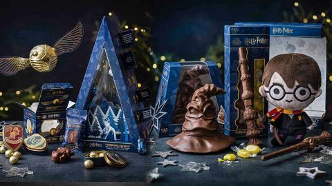 【聖誕禮物2020】馬莎M&S全新哈利波特系列零食! 霍格華茲學院徽章/分院帽/金探子/魔杖朱古力
