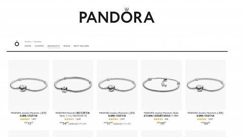 【網購優惠】PANDORA網購優惠低至香港門市58折!人氣熱賣款手鏈/戒指/串飾$165起