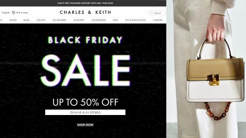 【Black Friday 2020】Charles & Keith感恩節優惠低至半價!秋冬新款手袋/銀包/卡套$89起