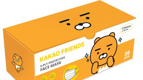 【香港口罩】CATALOG新推KAKAO FRIENDS口罩 RYAN/APEACH高防口罩下週開賣(附購買連結)