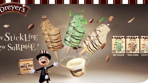 Dreyer's推全新皇牌雪條系列 3大口味/經典雪糕變身香濃朱古力雪條