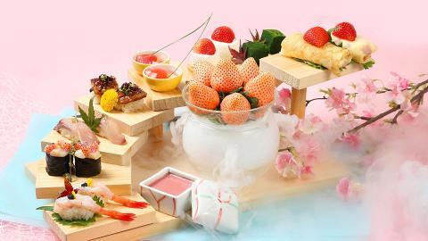 【沙田美食】帝都酒店推出淡雪草莓日式下午茶 歎勻奶香甜味士多啤梨忌廉卷/士多啤梨水信玄餅