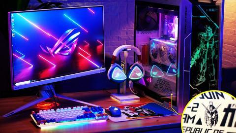 搶先試!ASUS x GUNDAM電競級主題電腦,爽玩《Cyberpunk 2077》