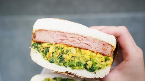 【油麻地美食】油麻地$30超厚芫荽餐蛋三文治 即叫即製!30g足料新鮮芫荽炒蛋