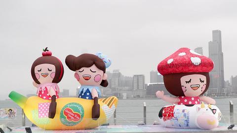 【灣仔好去處】Chocolate Rain主題卡通進駐灣仔海濱 限定粉紅隧道/巨型打卡壁畫