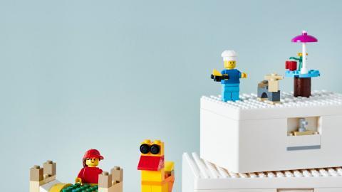IKEA X LEGO貯物盒新登場 一盒2用!收納+砌積木