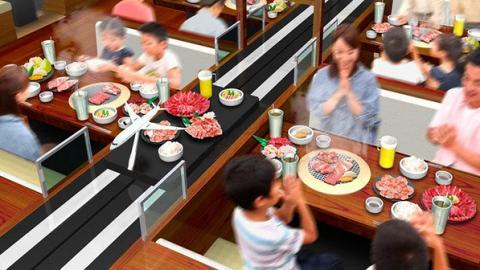 【尖沙咀美食】首間「飛機跑道」自動送餐燒肉放題店登陸尖沙咀 最平$208起!歎勻和牛/海鮮/小食
