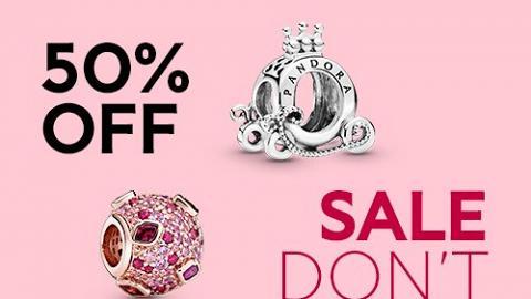 【網購優惠】Pandora官網限時半價優惠 串飾/手鍊/戒指/耳環$119起
