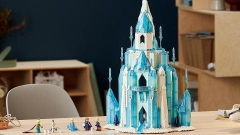 LEGO新推半米高《魔雪奇緣》城堡 1709粒砌雙邊天梯/冰雪噴泉
