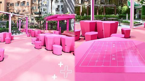 【油麻地好去處】砵蘭街休憩花園變身超Pink公園打卡位!少女粉色調枱櫈/優化多項設施