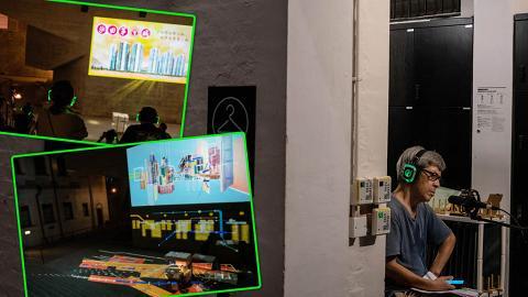 夜遊大館 2.0!《牆邊練習曲》以投影、劇情帶你體驗不一樣的夜間大館