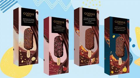 【GODIVA雪糕優惠】GODIVA黑巧克力軟心雪條優惠!7-Eleven便利店限時$120任選4件