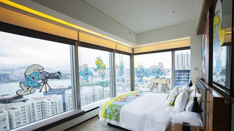 【酒店優惠2021】全港首個藍精靈主題酒店Staycation優惠25折!東隅酒店住宿+藍精靈下午茶+禮物