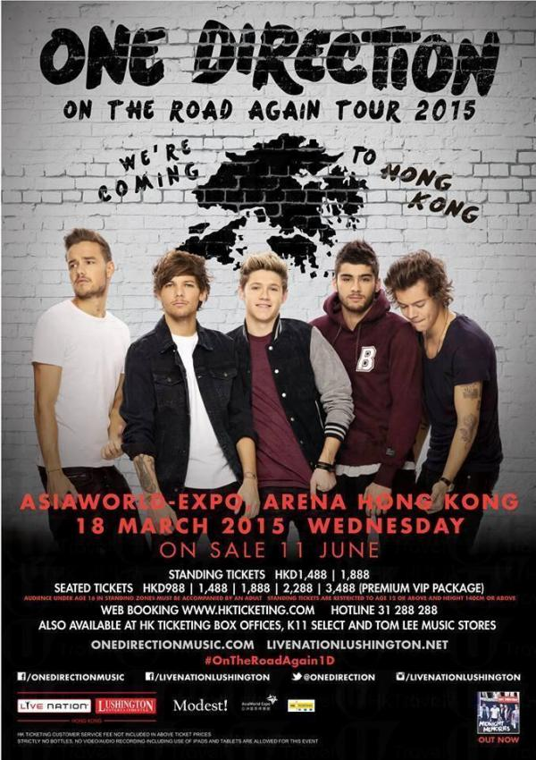 One Direction首度在香港舉行演唱會。
