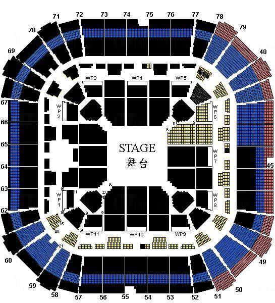 張敬軒《Hins Live in Passion》演唱會2014 座位表