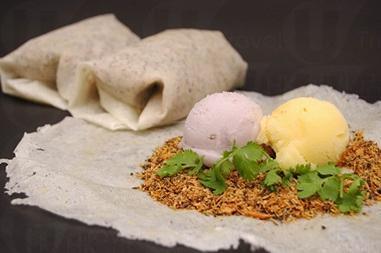 花生捲冰淇淋。