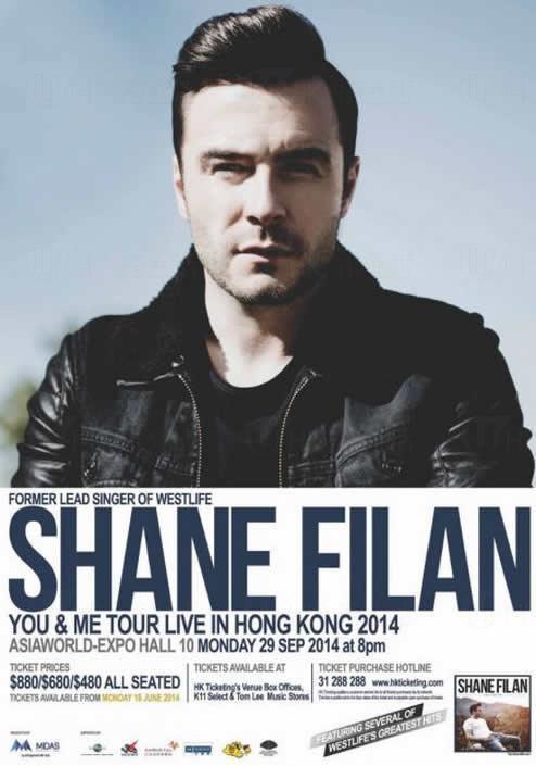 Shane Filan《You & Me Tour》演唱會 2014 香港站